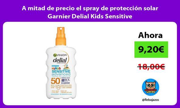 A mitad de precio el spray de protección solar Garnier Delial Kids Sensitive