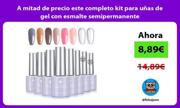 A mitad de precio este completo kit para uñas de gel con esmalte semipermanente