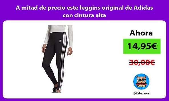 A mitad de precio este leggins original de Adidas con cintura alta