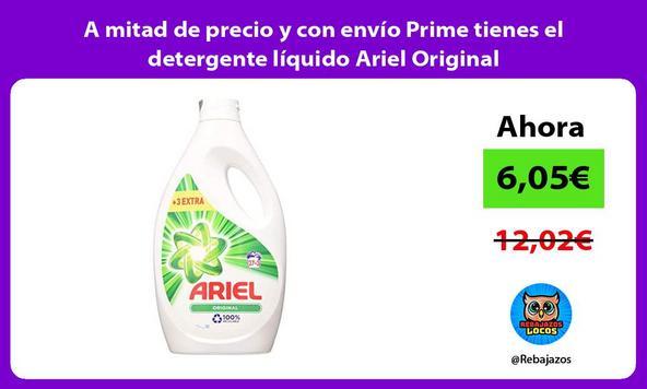 A mitad de precio y con envío Prime tienes el detergente líquido Ariel Original