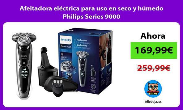Afeitadora eléctrica para uso en seco y húmedo Philips Series 9000