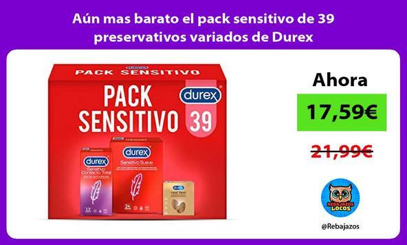 Aún mas barato el pack sensitivo de 39 preservativos variados de Durex