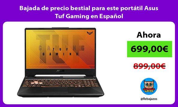 Bajada de precio bestial para este portátil Asus Tuf Gaming en Español