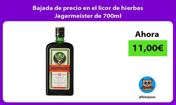 Bajada de precio en el licor de hierbas Jagermeister de 700ml