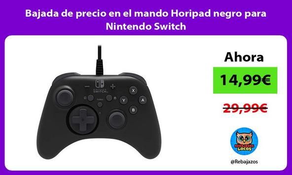 Bajada de precio en el mando Horipad negro para Nintendo Switch
