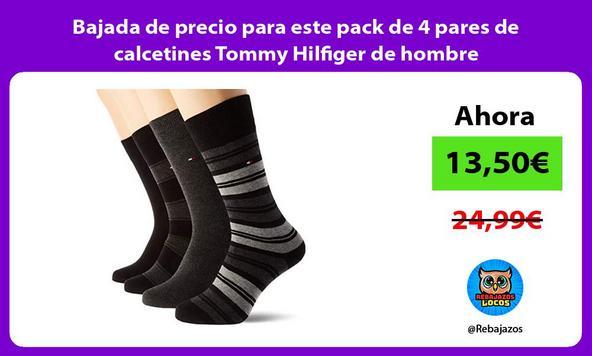 Bajada de precio para este pack de 4 pares de calcetines Tommy Hilfiger de hombre