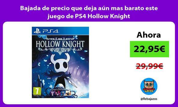 Bajada de precio que deja aún mas barato este juego de PS4 Hollow Knight