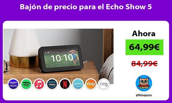 Bajón de precio para el Echo Show 5