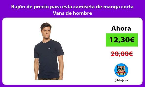 Bajón de precio para esta camiseta de manga corta Vans de hombre