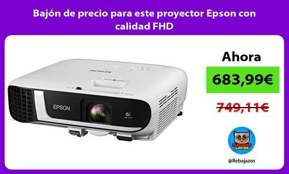 Bajón de precio para este proyector Epson con calidad FHD