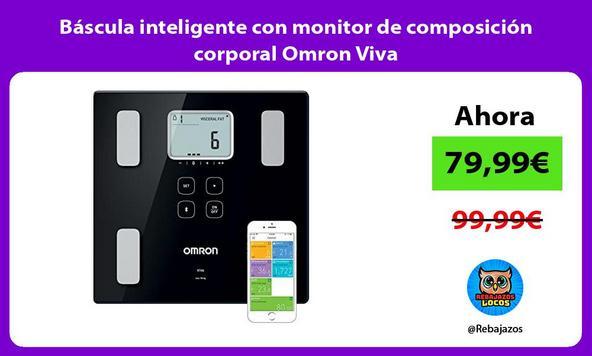 Báscula inteligente con monitor de composición corporal Omron Viva