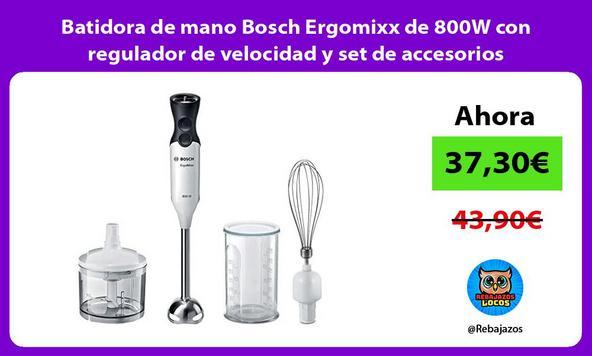Batidora de mano Bosch Ergomixx de 800W con regulador de velocidad y set de accesorios