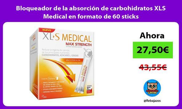 Bloqueador de la absorción de carbohidratos XLS Medical en formato de 60 sticks