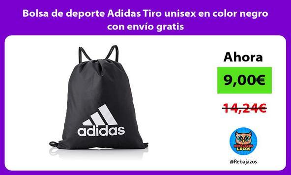 Bolsa de deporte Adidas Tiro unisex en color negro con envío gratis