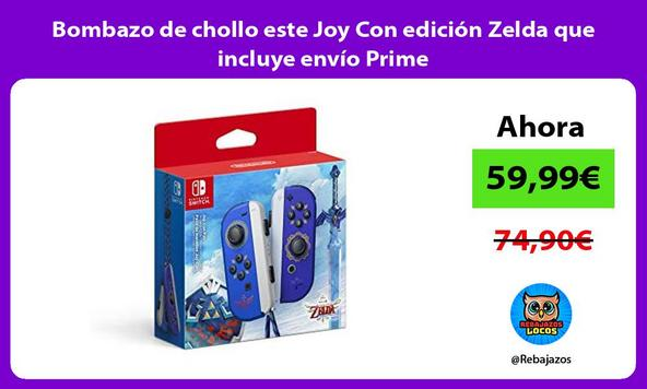Bombazo de chollo este Joy Con edición Zelda que incluye envío Prime