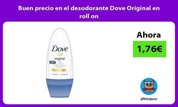 Buen precio en el desodorante Dove Original en roll on