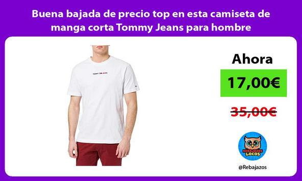 Buena bajada de precio top en esta camiseta de manga corta Tommy Jeans para hombre