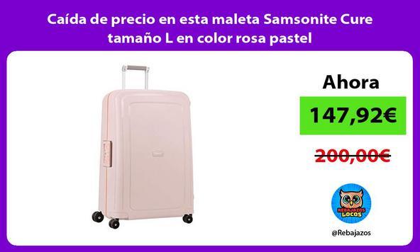 Caída de precio en esta maleta Samsonite Cure tamaño L en color rosa pastel