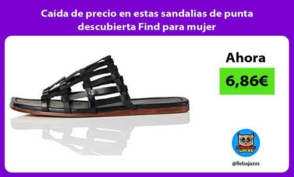 Caída de precio en estas sandalias de punta descubierta Find para mujer