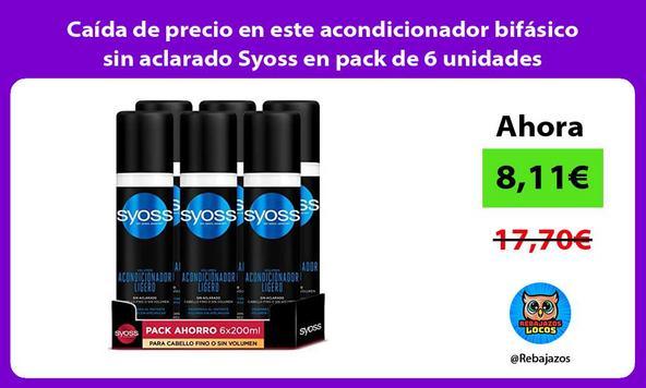 Caída de precio en este acondicionador bifásico sin aclarado Syoss en pack de 6 unidades