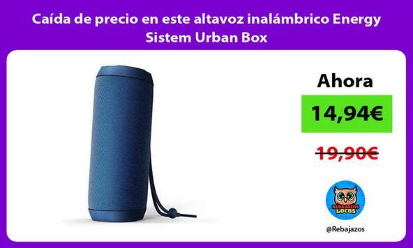 Caída de precio en este altavoz inalámbrico Energy Sistem Urban Box