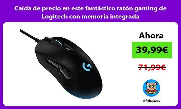 Caída de precio en este fantástico ratón gaming de Logitech con memoria integrada