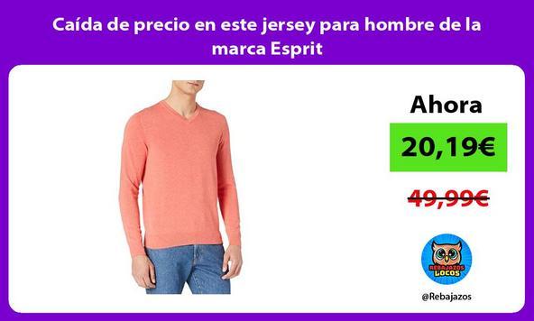 Caída de precio en este jersey para hombre de la marca Esprit