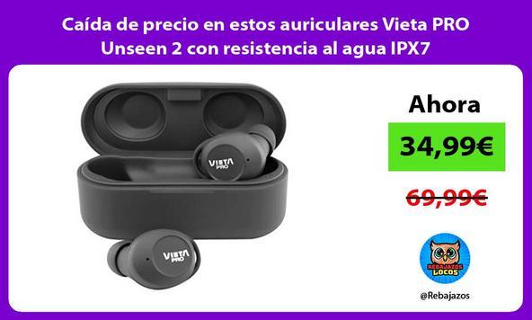 Caída de precio en estos auriculares Vieta PRO Unseen 2 con resistencia al agua IPX7