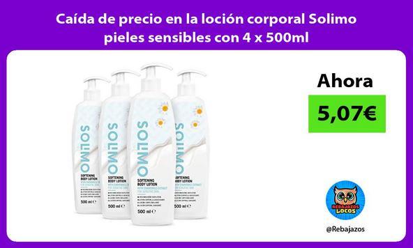 Caída de precio en la loción corporal Solimo pieles sensibles con 4 x 500ml