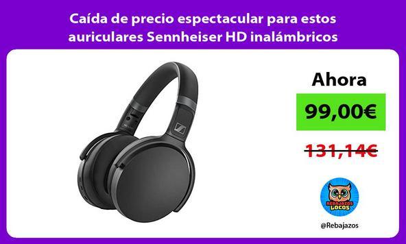 Caída de precio espectacular para estos auriculares Sennheiser HD inalámbricos