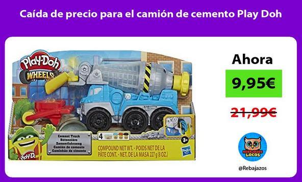 Caída de precio para el camión de cemento Play Doh