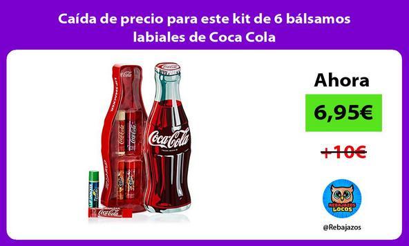 Caída de precio para este kit de 6 bálsamos labiales de Coca Cola