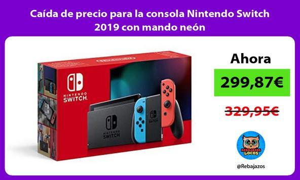 Caída de precio para la consola Nintendo Switch 2019 con mando neón