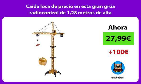 Caída loca de precio en esta gran grúa radiocontrol de 1,28 metros de alta