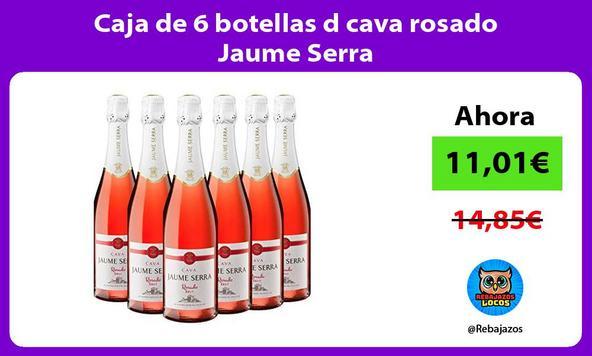 Caja de 6 botellas d cava rosado Jaume Serra