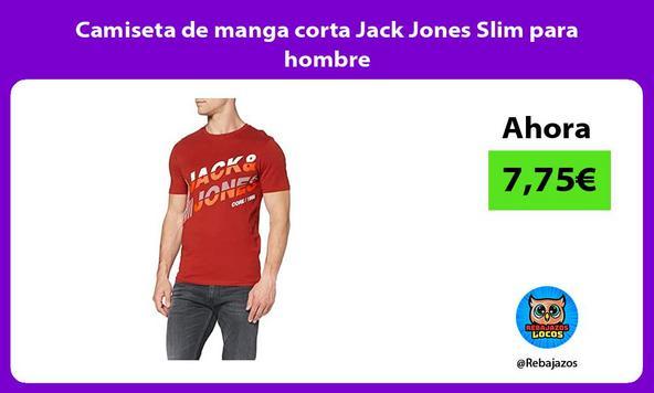 Camiseta de manga corta Jack Jones Slim para hombre