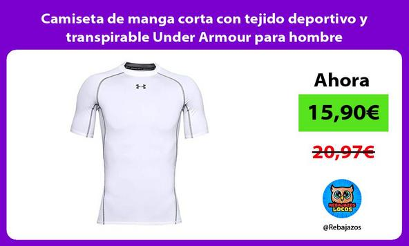 Camiseta de manga corta con tejido deportivo y transpirable Under Armour para hombre