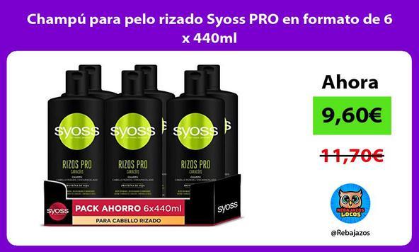 Champú para pelo rizado Syoss PRO en formato de 6 x 440ml
