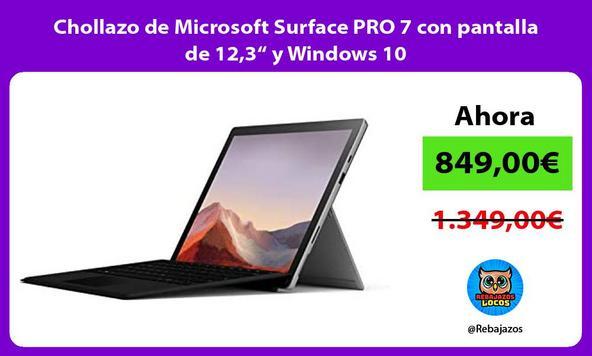 """Chollazo de Microsoft Surface PRO 7 con pantalla de 12,3"""" y Windows 10"""