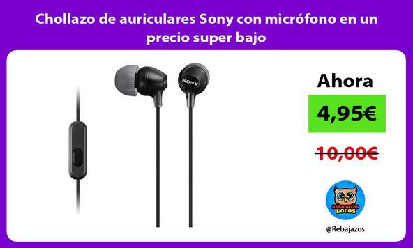 Chollazo de auriculares Sony con micrófono en un precio super bajo