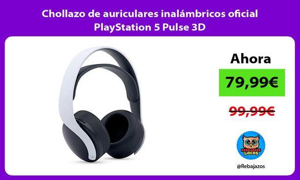 Chollazo de auriculares inalámbricos oficial PlayStation 5 Pulse 3D