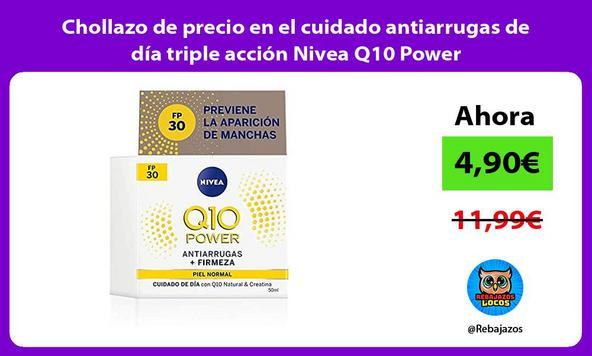 Chollazo de precio en el cuidado antiarrugas de día triple acción Nivea Q10 Power