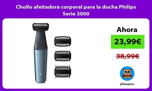 Chollo afeitadora corporal para la ducha Philips Serie 3000