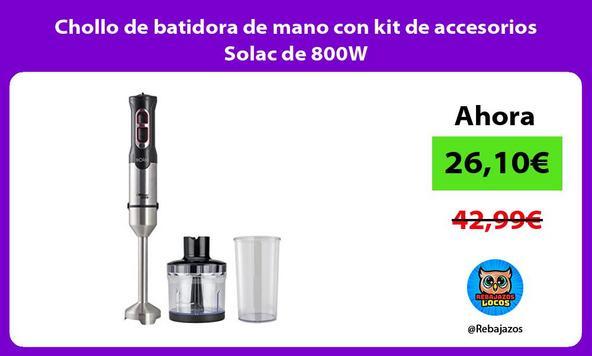 Chollo de batidora de mano con kit de accesorios Solac de 800W
