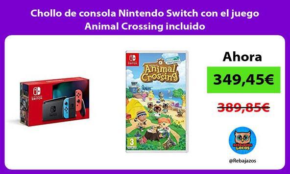 Chollo de consola Nintendo Switch con el juego Animal Crossing incluido