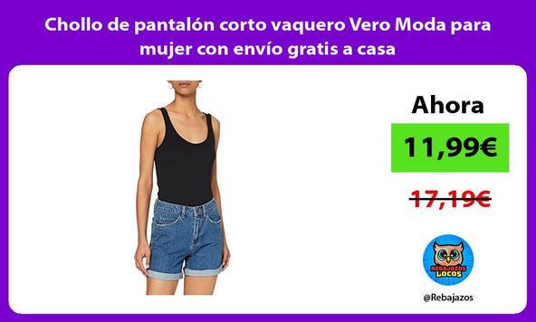 Chollo de pantalón corto vaquero Vero Moda para mujer con envío gratis a casa