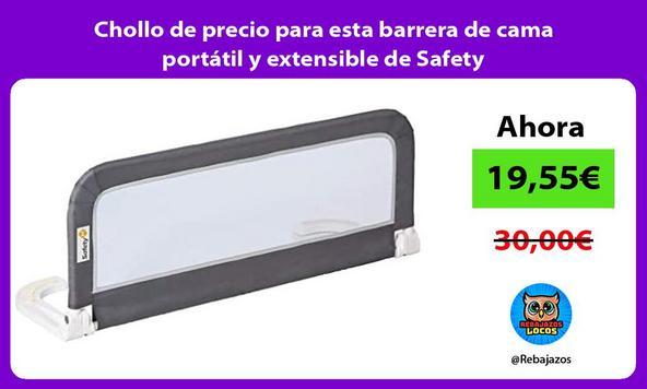 Chollo de precio para esta barrera de cama portátil y extensible de Safety
