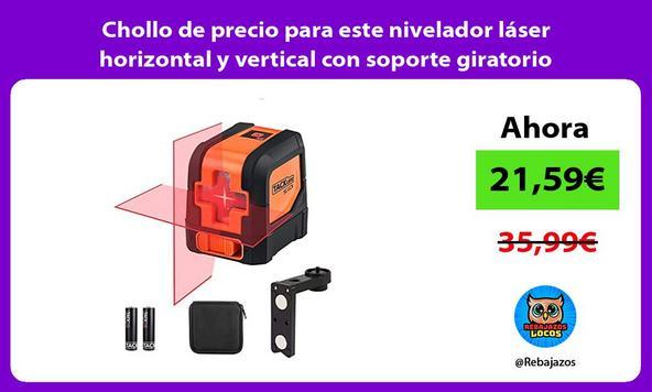 Chollo de precio para este nivelador láser horizontal y vertical con soporte giratorio magnético