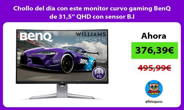 "Chollo del día con este monitor curvo gaming BenQ de 31,5"" QHD con sensor B.I"