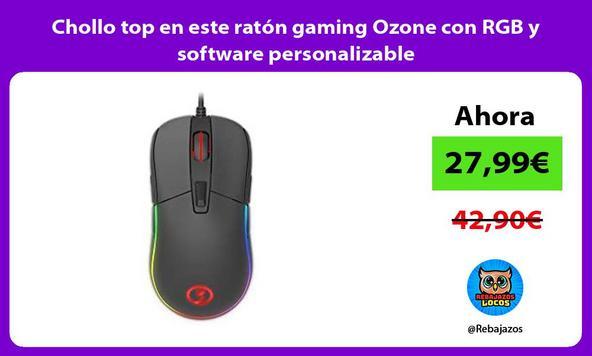 Chollo top en este ratón gaming Ozone con RGB y software personalizable